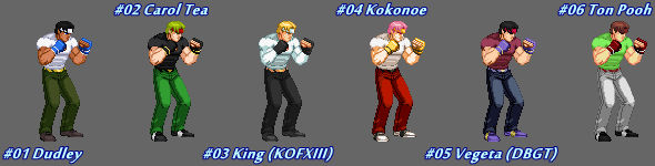 (MUGEN) Axel Stone by Testament - Palettes
