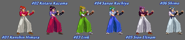 (MUGEN) Kasumi Todoh by Falcon Rapper - Palettes