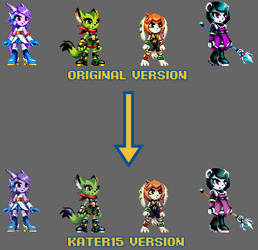 (MUGEN) Freedom Planet 2 Girls - Alt. Palettes