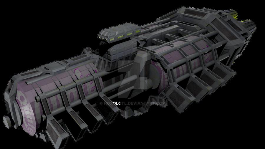 Quafe Cargo Ship by Hoxolotl