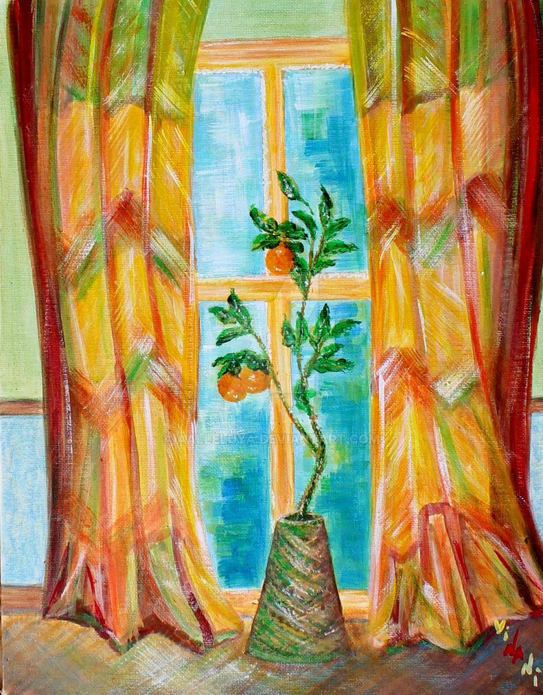 The orange tree by the window by aalleluya
