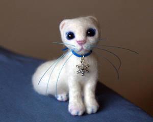 Kitten, Needle Felted Wool Cat, Miniature