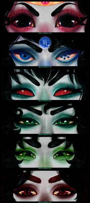 Alternian girls eye headcanons