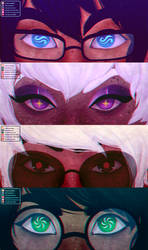 Homestuck | God Tier Eyes [Speedpaint + Vote Now!]