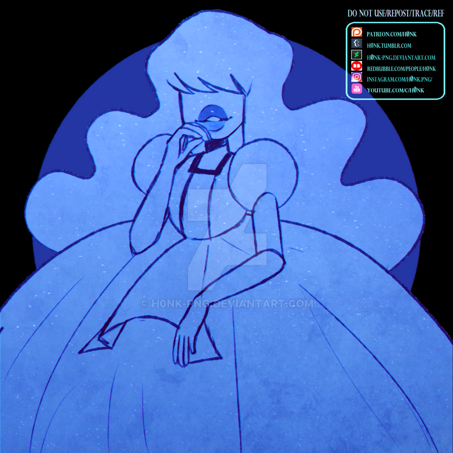 Steven Universe Sapphire Collab By H0nk Png On Deviantart