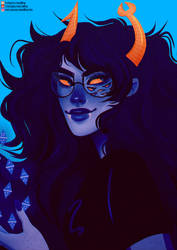 its 413 so Vriska time babey [Speedpaint] by H0nk-png