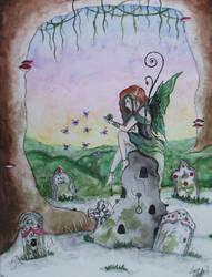 Laura- The Green Fairie by Faith-Alexa
