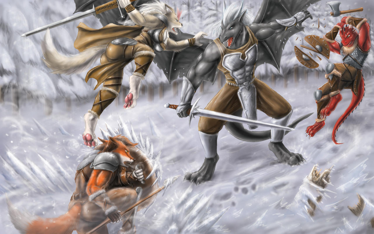 Against a dragon by Max-Dragon
