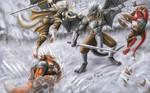 Against a dragon