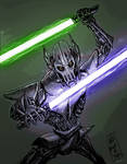Mw - General Grevious Blue and Green Lightsabers by dudewhodrawsstuff