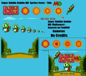Super Bubble Bobble MD - Title Screen