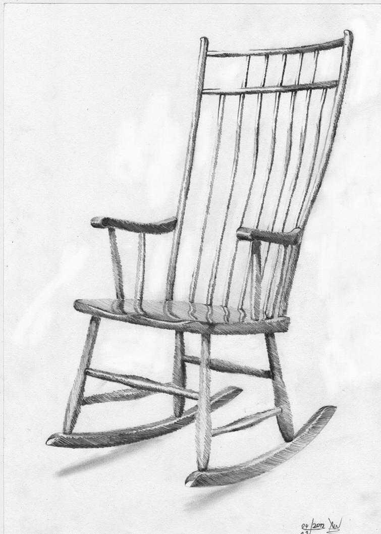 rocking chair drawing. Rocking Chair By Xenonnati Drawing C