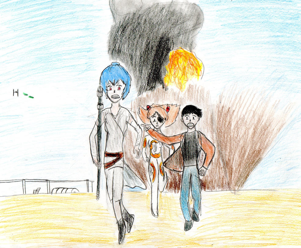 Star Wars: The Force Awakens AU by grasimpson
