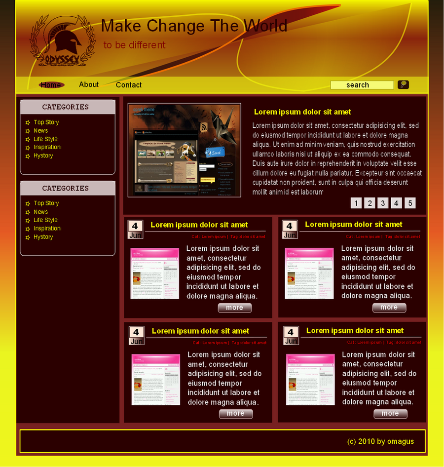 my first web design by omagus