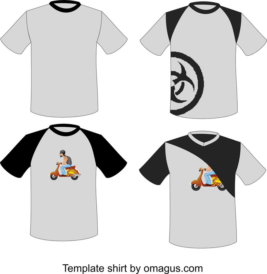 Design t shirt corel draw - T Shirt Template Design By Omagus