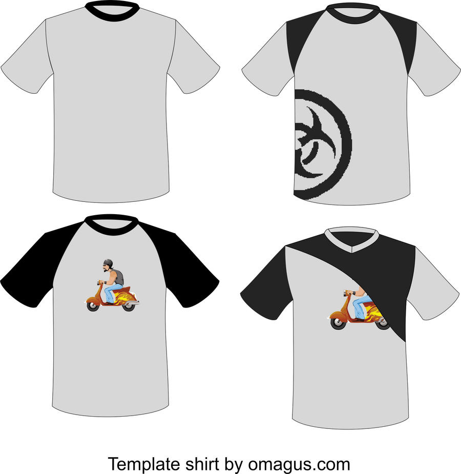 Corel draw vs photoshop for t shirt design - Design T Shirt Template T Shirt Template Design By Omagus T Shirt Template Design By