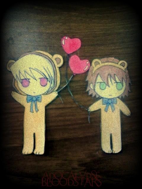 Junjou Romantica Chibis Teddy costumes by ApocalypseBloodStars