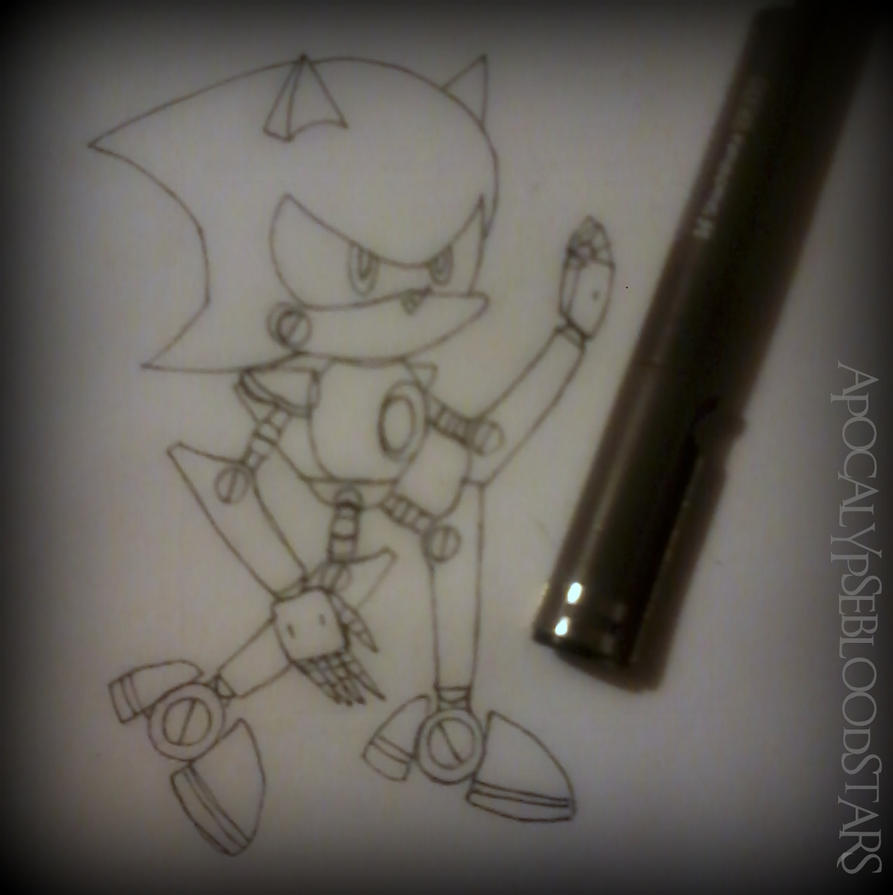 How I Draw Metal Sonic :D by ApocalypseBloodStars