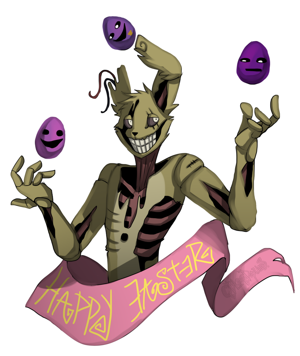 Happy Easter From Springtrap! (By Bloodpus But I Can't