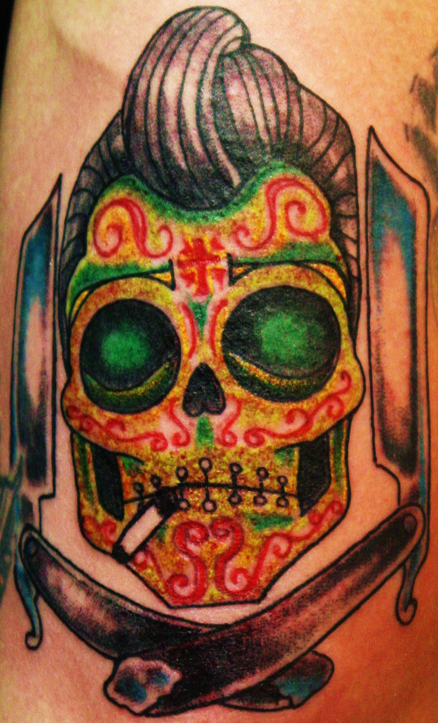 Greaser Sugar Skull by SykboiGreaser Sugar Skull