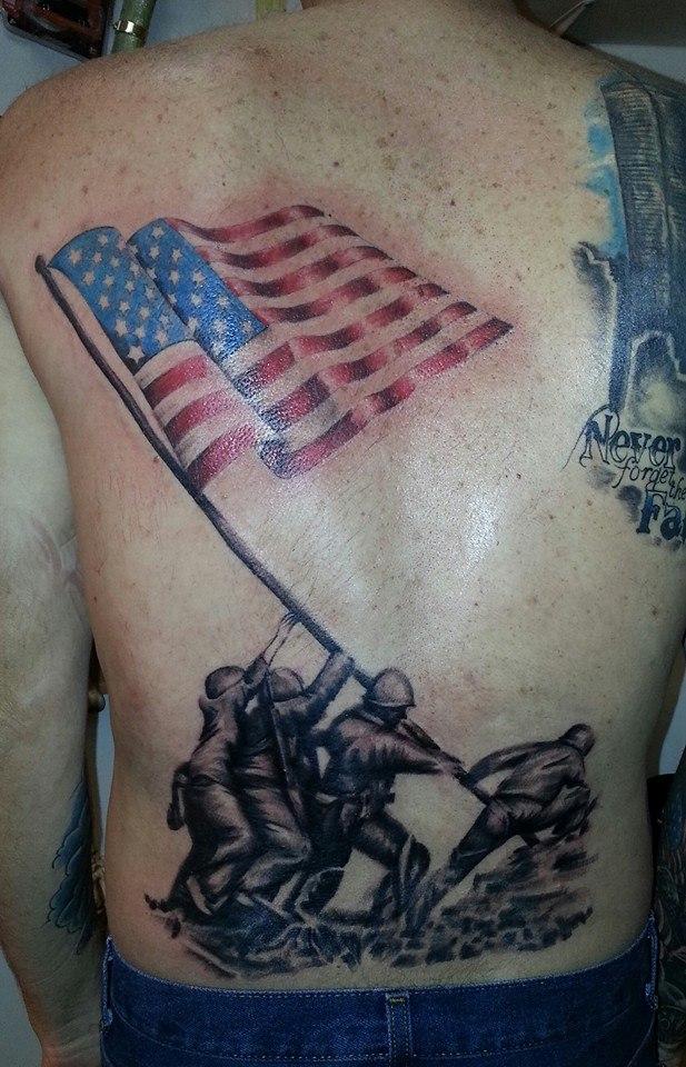 Iwo jima memorial tattoo by sykboi on deviantart for Iwo jima tattoo