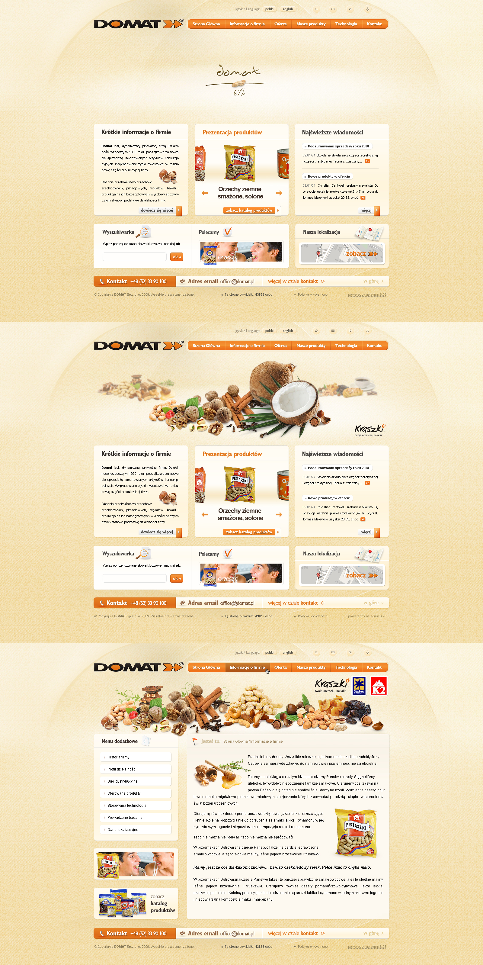 Domat producent orzeszkow by rzmota