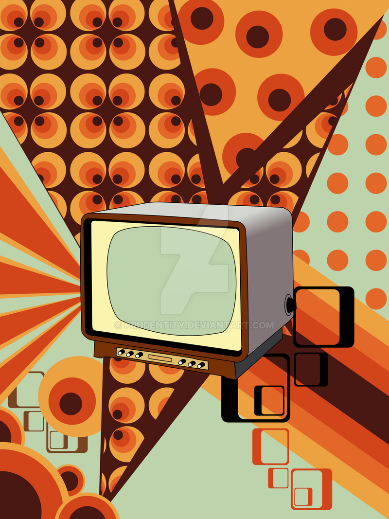 Retro Television Wallpaper by Prudentity