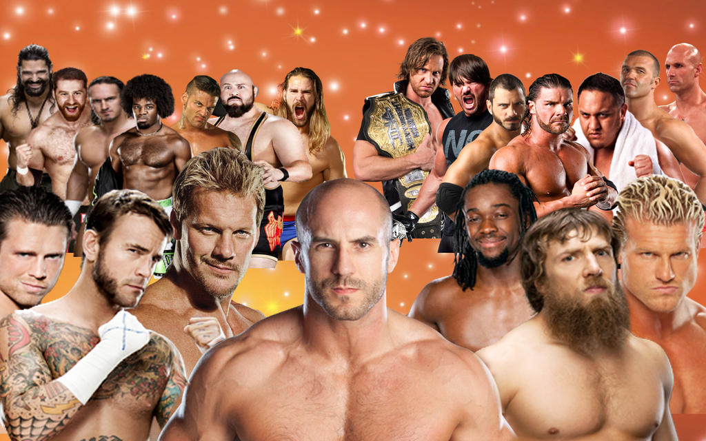 WWE RAW NXT and TNA talented wrestlers wallpaper by SpartasaurusAll Wwe Wrestlers 2013
