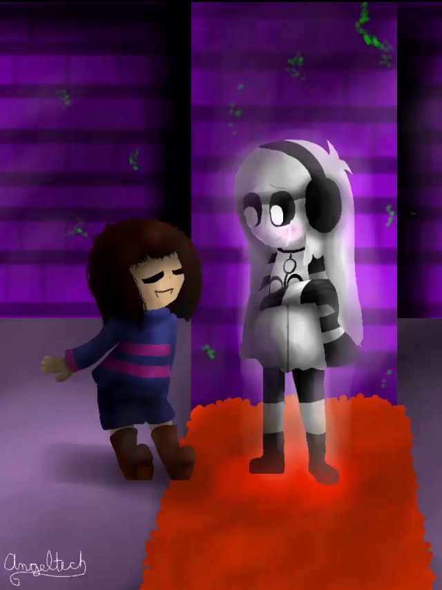Frisk and human girl nabstablook by dhanna98