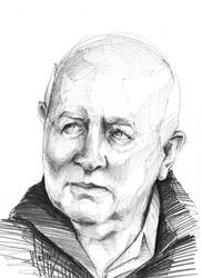 Old Man Sketch by sketchgrind
