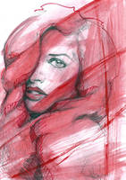 Red Head Lady by sketchgrind