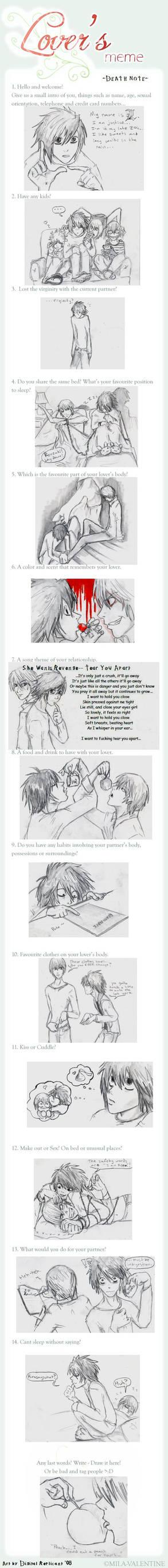 L x Light -Death Note meme-