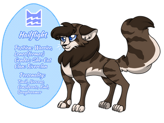 Warrior Catsona - Hailflight by Eeveewhite97