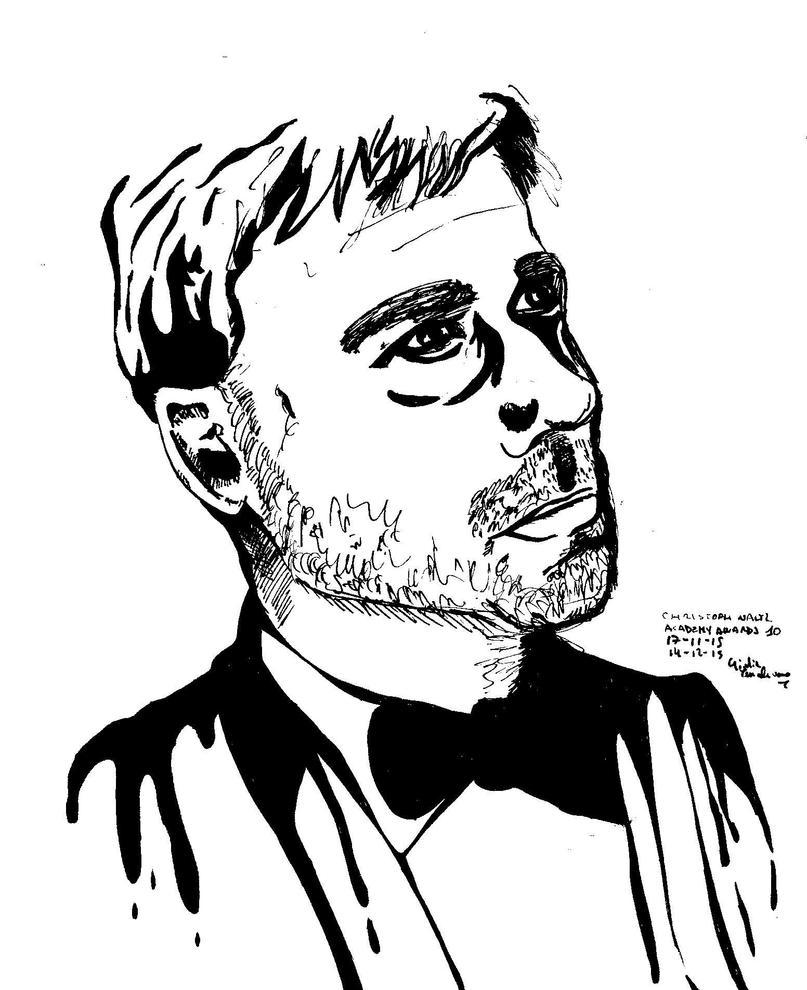 Christoph Waltz, Sketch Portrait. by LiaSmile00