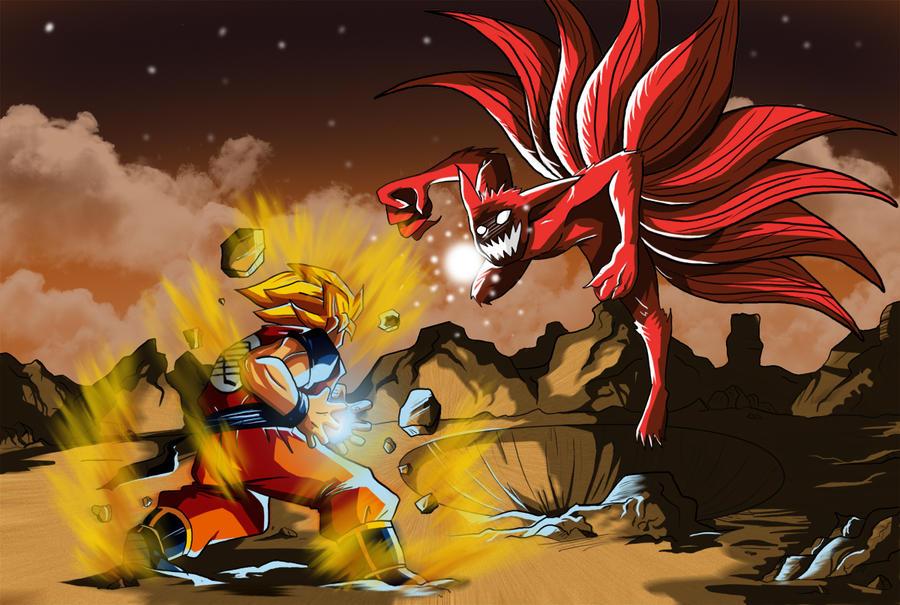 Goku Vs Naruto Nine Tails By Master Angel On Deviantart