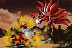 Goku vs Naruto Nine Tails