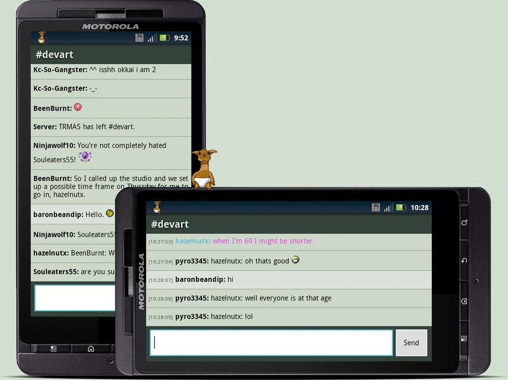 Cria dAmn Chat Client for Android by baronbeandip