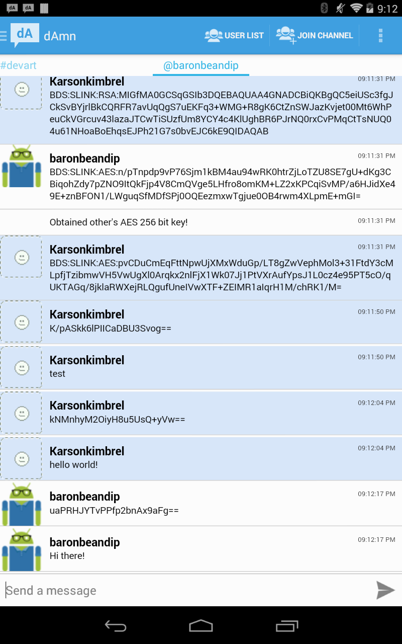 Encrypted pchats Prototype