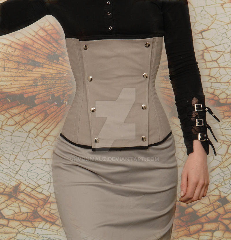 Military Cover Corset by vonMauz