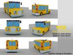 Magic School Bus 3D Model renders