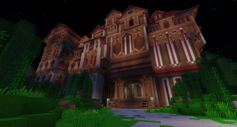 minecraft herobrines mansion 1.8