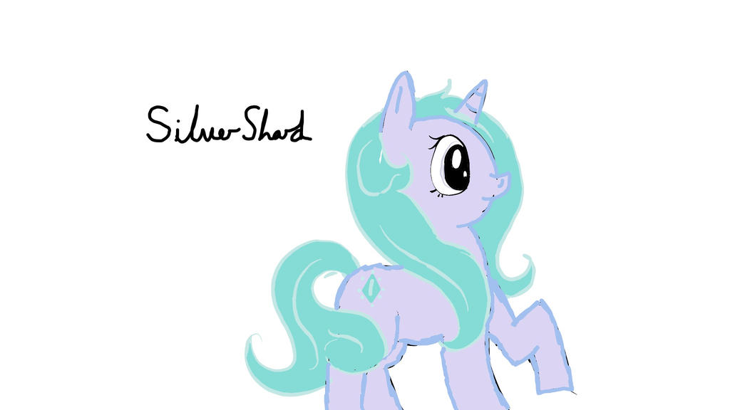 SilverShard Mlp OC by LoopyEmu
