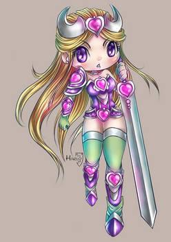 Knight of Hearts LOVE 6 ID Card