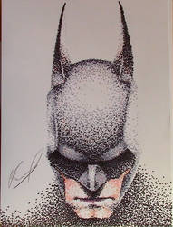 Batman: Arkham Knight Pointilism by AnthonyParenti