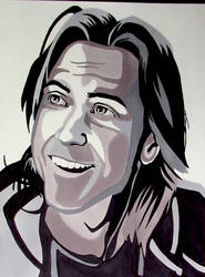 The Illustrious Mathew Mercer - Marker Drawing by AnthonyParenti