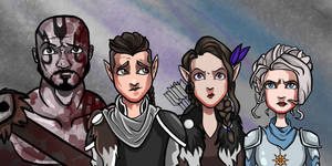 Critical Role - Grog, Vax, Vex, and Pike