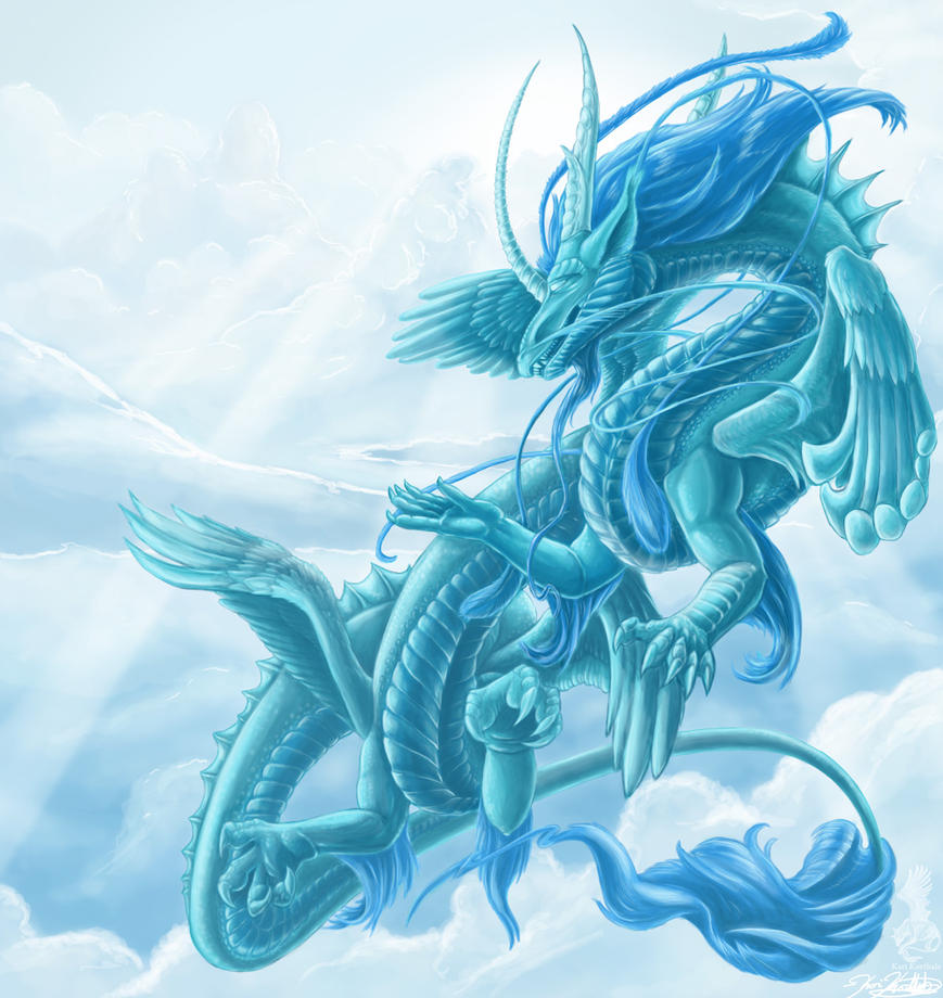 Celestial Dragon for dineegla by YamiGriffin on DeviantArt