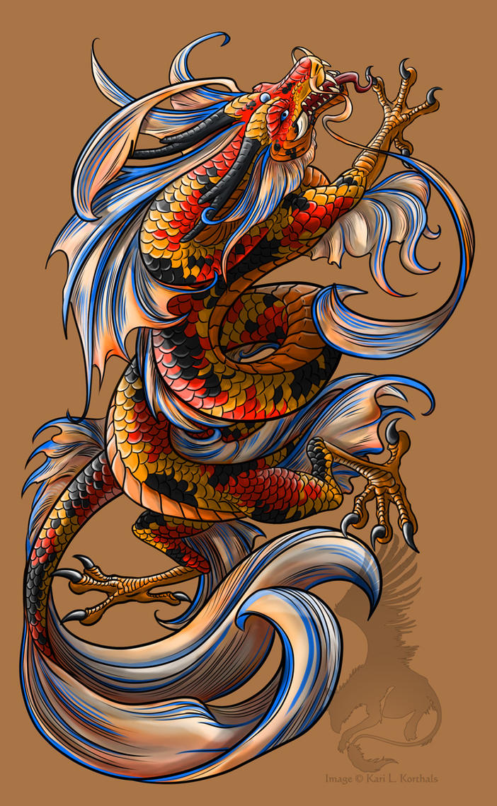 Koi dragon tattoo by yamigriffin on deviantart for All about koi fish