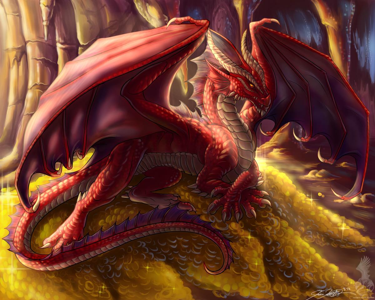 Red dragon by YamiGriffin on DeviantArt