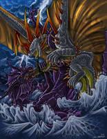 drakuu Vs Dretacheal by YamiGriffin